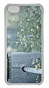 Customized iphone 5C PC Transparent Case - Wooden Pole Personalized Cover by icecream design
