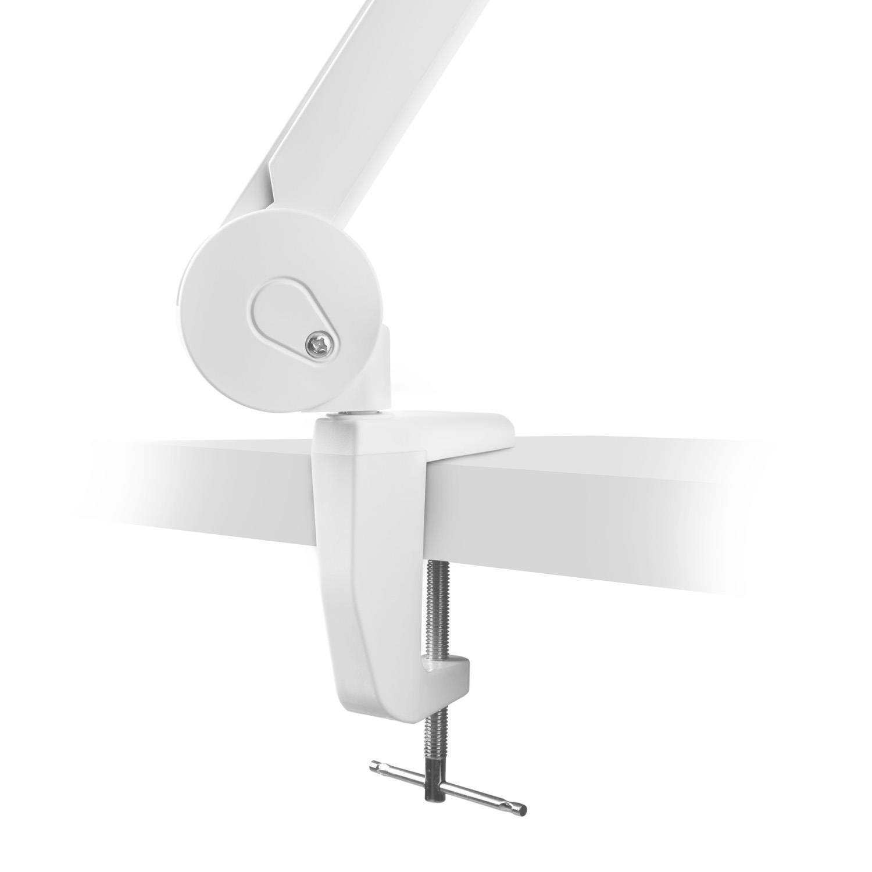 Lightcraft Telelux lupa con luz LED (con 60 SMD, 6 W, 3/5 dioptrías, brazo flexible de 88 cm, 3 articulaciones, cabezal giratorio e inclinable, ...
