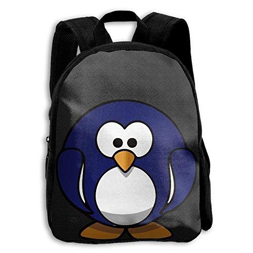 Kids Backpack Funny Fat Penguin Girls School Bag Multipurpose Daypacks Backpacks by HUVATT