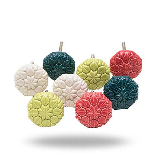 Set of 8 Octopus Garden Ceramic Knobs by Trinca-Ferro