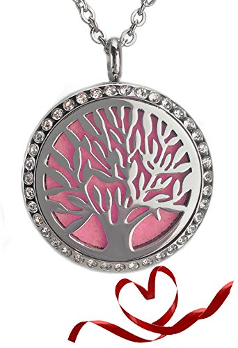 Aromatherapy Necklace Diffuser Tree of Life for Essential Oils