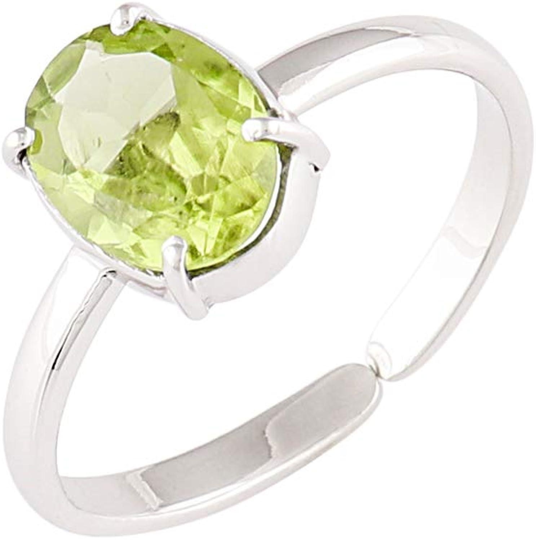 OOAK Anillo de plata esterlina con piedras preciosas de peridoto natural, joyería hecha a mano, cristal de curación de chakra, piedra energética, yoga, anillo de meditación, anillos para mujeres,