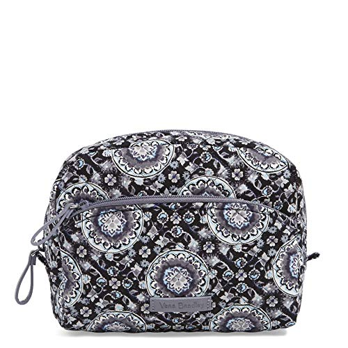 - Vera Bradley Iconic Medium Cosmetic, Signature Cotton, Charcoal Medall