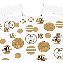 Big Dot of Happiness We Still Do - 50th Wedding Anniversary Giant Circle Confetti - Anniversary Party Decorations - Large Confetti 27 Count