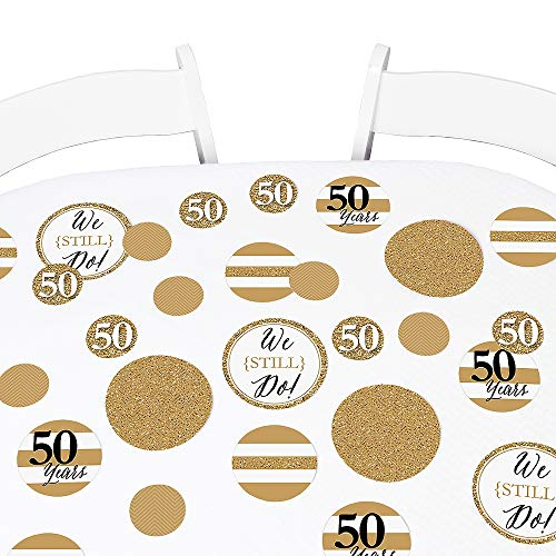 Big Dot of Happiness We Still Do - 50th Wedding Anniversary Giant Circle Confetti - Anniversary Party Decorations - Large Confetti 27 Count ()