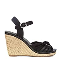 Yellow Shoes Lucid Womens Memory Foam Wedge Sandals - Summer Spring - Medium Heel in Synthetic Leather - Trendy Fashion