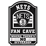WinCraft NBA Brooklyn Nets 33194012 Wood Sign, 11'' x 17'', Black