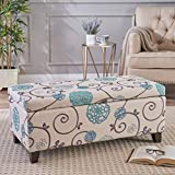 Christopher Knight Home 299442 Living Brenway Pattern Fabric Storage Ottoman, 19.00