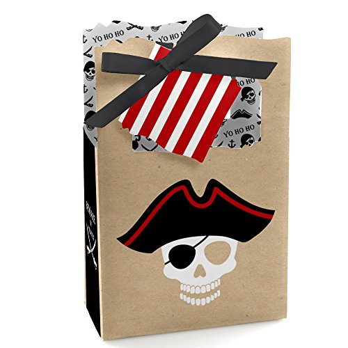 Beware of Pirates - Pirate Birthday Party Favor Boxes - Set of 12