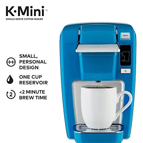 Keurig K15 Coffee Maker, Single Serve K-Cup Pod Coffee Brewer, 6 to 10 oz. Brew Sizes, True Blue