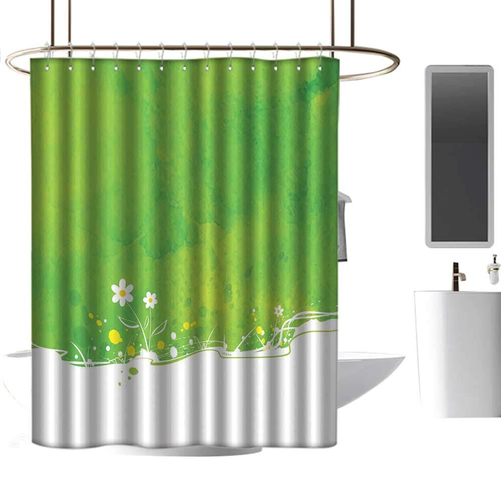 Wine Colored Shower Curtains.Amazon Com Coolteey Shower Curtains Red Wine Green Blooming
