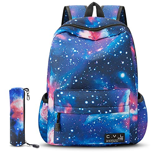 Canvas Book Bags - School Backpack, CYL Galaxy School Bag Student Unisex Canvas Laptop Book Bag Rucksack Daypack Kids Boys and Girls