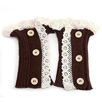Boot Cover,Morecome Woman Three Button Short Knitted Leg Warmers Socks