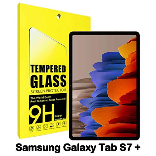 Tempered Glass For Galaxy Tab S7 Plus 12.4 inch Screen Protector Compatible With Galaxy Tab S7 Plus 12.4 inch