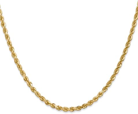14K Yellow Gold 2.00MM Handmade Rope Link Bracelet 6 inches