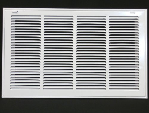 24 X 18 Steel Return Air Filter Grille for 1 Filter - Removable Face/Door - HVAC DUCT COVER - Flat Stamped Face - White by HVAC Premium