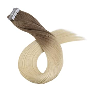 Ugeat 100g Brazilian Tape in Remy Real Human Hair Extensions Blonde Full Head