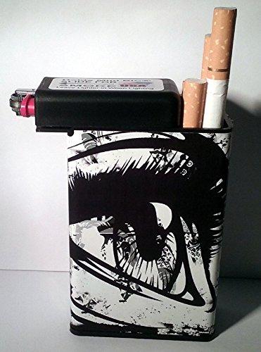 Designer Cigarette Case - Cigarette Case Eye Ball Lashes With Built On Lighter Holder box Kings 100's ryo