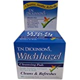 T.N. Dickinsons Hazelets Witch Hazel Pads - 60 Ea