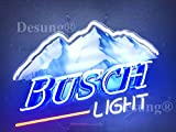 24''x20'' New B usch L ight Neon Sign with HD Vivid Printing Technology Custom Handmade Real Glass Neon Light NT06