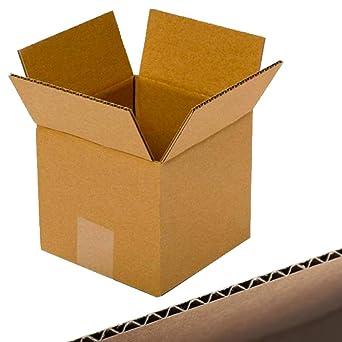 MZ Basics – 5 cajas de cartón pequeñas para envío – 4 x 4 x 4 pulgadas en – Caja de correo de papel kraft corrugado (10 x 10 x 10 cm): Amazon.es: Industria, empresas y ciencia