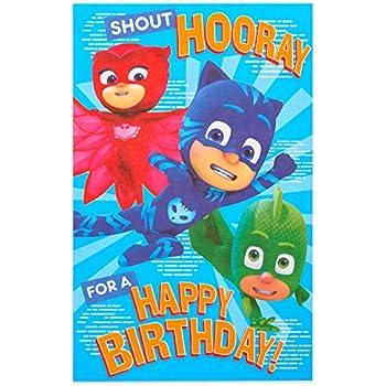 Amazon.com : PJ Masks Catboy Gekko Owlette Birthday Card ...