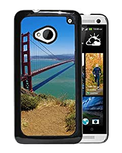 New Beautiful Custom Designed Cover Case For HTC ONE M7 With San Francisco Bridge Phone Case