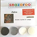 zebra face paint - Snazaroo Zebra Face Paint Theme Kit with Sponge