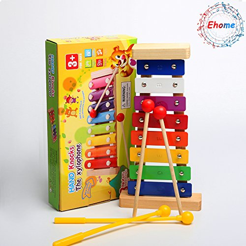 Ehome Xylophone for Kids, Musical Toy for Toddlers - With Clear Sounding Keys, Four Child-Safe Wooden Mallets for Kids - Making Fun