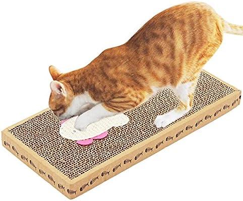 Rascadores de cartón Corrugado para Gatos con Almohadilla de ...