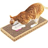 Durable Corrugated Cardboard Cat Scratchers with Sisal Kitten Flat Scratching Pad (Fish)