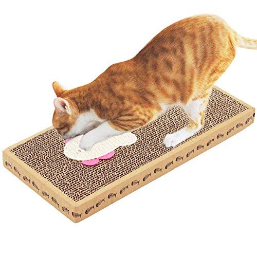 Durable Corrugated Cardboard Cat Scratchers with Sisal Kitten Flat Scratching Pad (Feline Nuvo Cat Furniture)