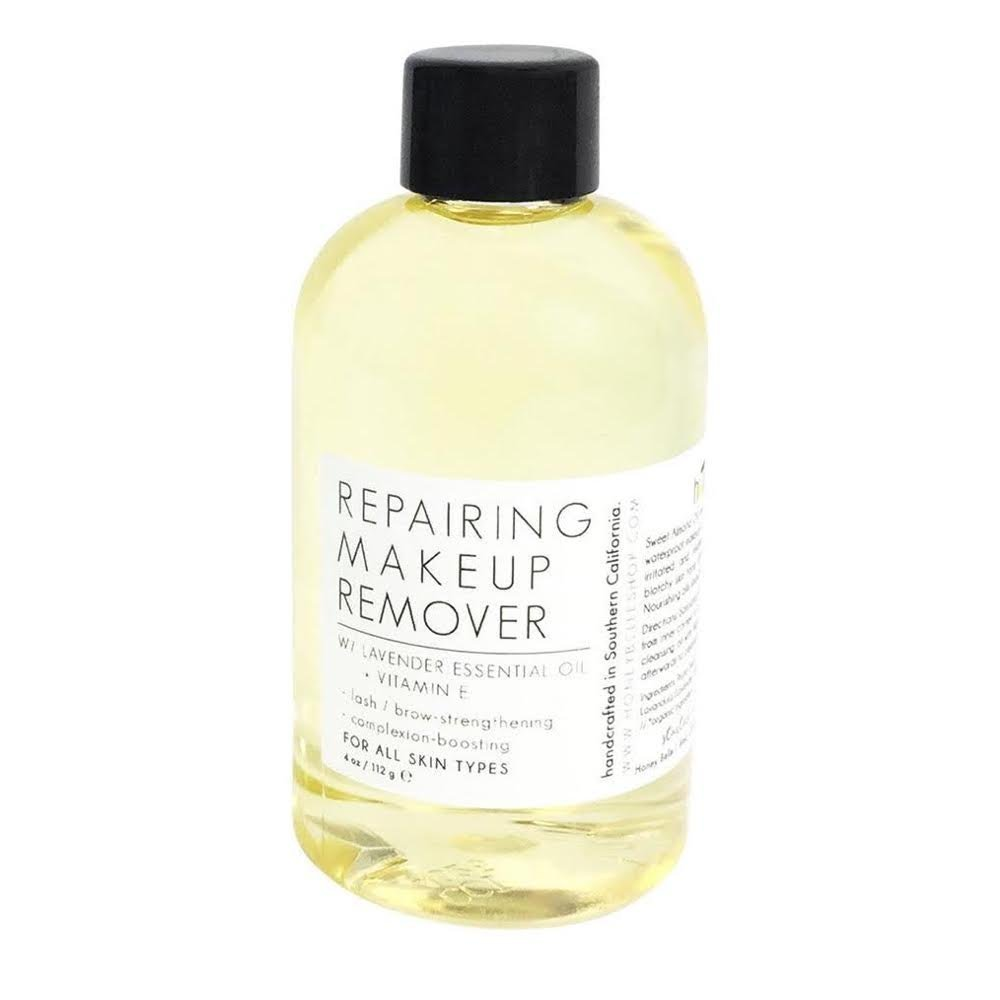 All Natural & Organic Cold Pressed Sweet Almond Oil Repairing Makeup Remover 4 oz - For All Skin, Sensitive Treatment - By Honey Belle