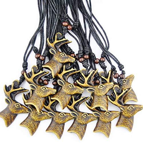 LOT 12PCS Cool elk Reindeer Pendant Necklace