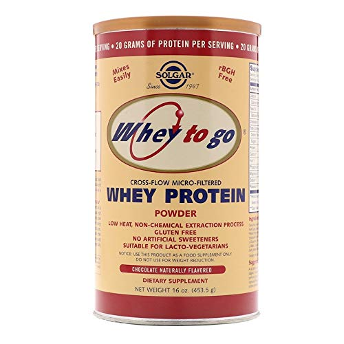 Solgar - Whey To Go  Protein Powder* Natural Chocolate Flavor 16 oz