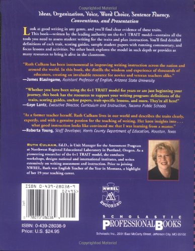 Amazon.com: 6 + 1 Traits of Writing: The Complete Guide, Grades 3 ...