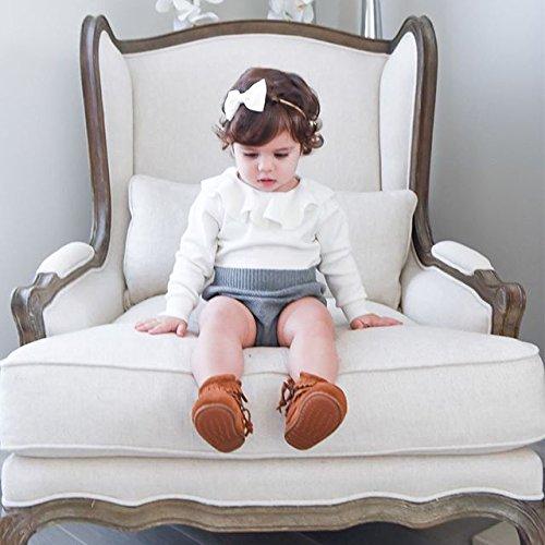 67653d206 Urkutoba Baby Girls Romper Knitted Ruffle Long Sleeve Jumpsuit ...