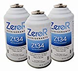 ZeroR Z134 Refrigerant - R134a Replacement - 3 Cans - Made in USA - Natural Non Ozone Depleting