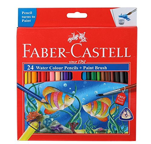 Faber Castell Faber Castell School Series Full Length Water Color Pencils 24 Shades