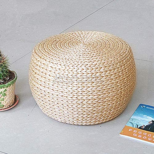 qwqwqw 29/% Solid Wood Simple Small Bench Straw rattan the round for shoes bench cushion stool home sofa bench bar stool