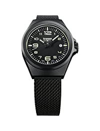 traser P59 Essential S Black Milanese PVD-Coated