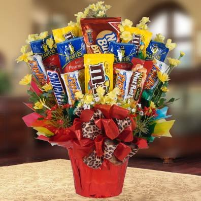 Candy Nuts Bouquet (Nuts for Candy Gourmet Candy Gift Basket | M&Ms Snickers and More)