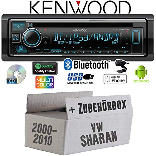 JUST SOUND best choice for caraudio CD//MP3//USB Bluetooth Einbauzubeh/ör iPhone Einbauset f/ür VW Sharan 1 7M Autoradio Radio Kenwood KDC-BT530U Android Spotify