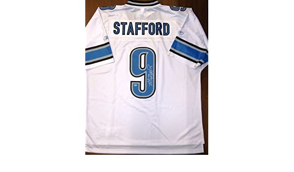 6c5f4398ebd Amazon.com  Matthew Stafford Autographed Detroit Lions Jersey  Sports  Collectibles