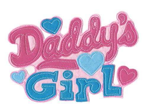 XXL Extra Large & Cute Daddy's Girl Shirt Applique Patch 22cm - Badge - Patches - Girly - Hoodie - Sweatshirt - Bag