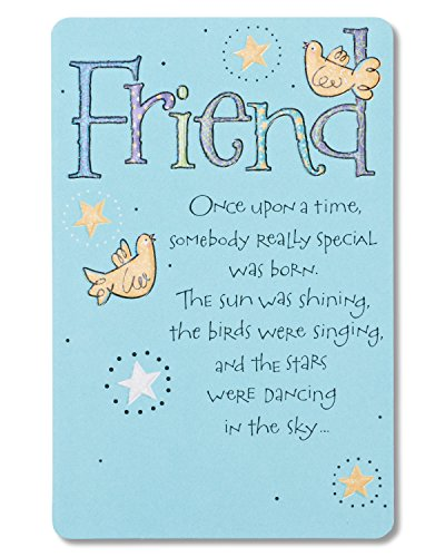 American Greetings Bird And Stars Birthday Card for Friend (Star Birthday Card)