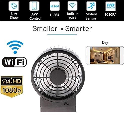 dissylove Mini WiFi Camera,WirelessCamera HD 1080P Security Camera,Mini Cooling Fan Camera Wireless IP Wetwork Monitor Hidden Camera