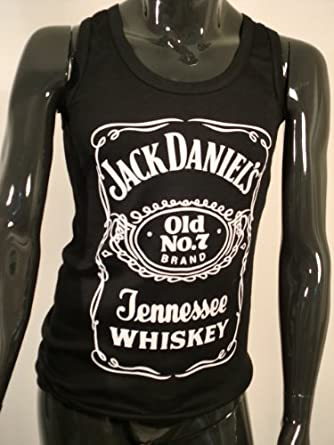 02a9ea98867 Mens Jack Daniels Whiskey Sleeveless Vest Top Muscle Gym Black Tank Top  Tshirt Size  Xl  Amazon.co.uk  Clothing