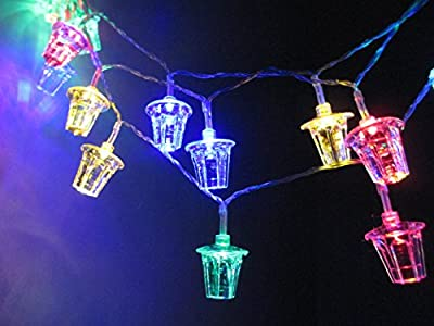 M&T TECH 30 Lantern Christmas Lights Battery Powered String Lights for Indoor Outdoor Xmas Decoration-Multi color