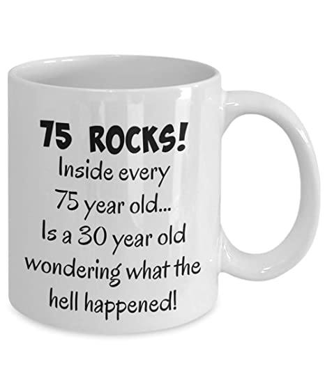 Happy 75 Year Old 1943 75th Birthday Gift Mug For Women Or Men Great Christmas